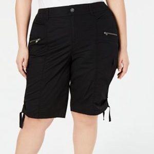 Style & Co black bermuda cargo shorts